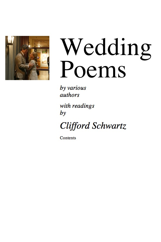 book cover of Wedding Poems